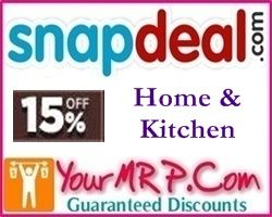 snapdeal Home Kitchen and Home Decor Extra 15% Off