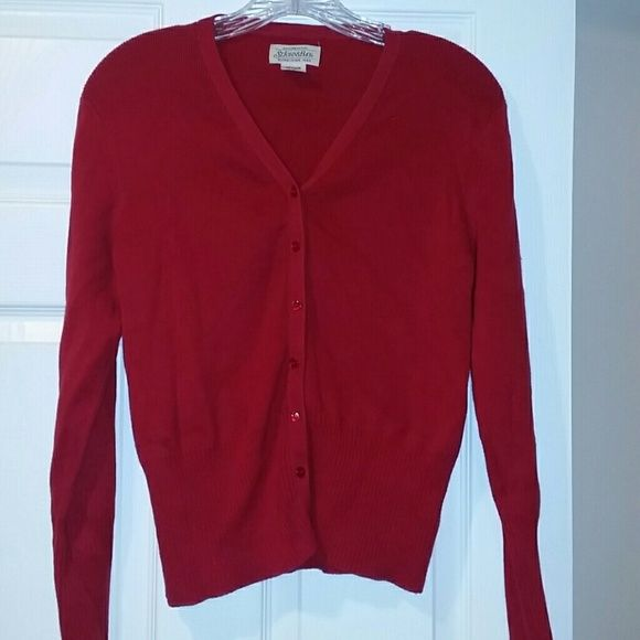 St. John's Bay Red cardigan Good condition, Red cardigan. St. John's Bay Sweaters Cardigans