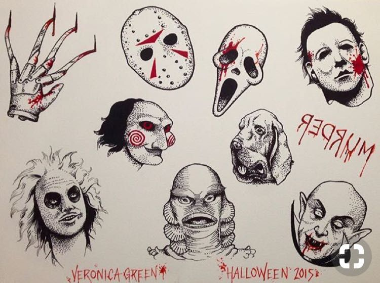 Idea By Blogaphobia On Flash Sheets Spooky Tattoos Scary