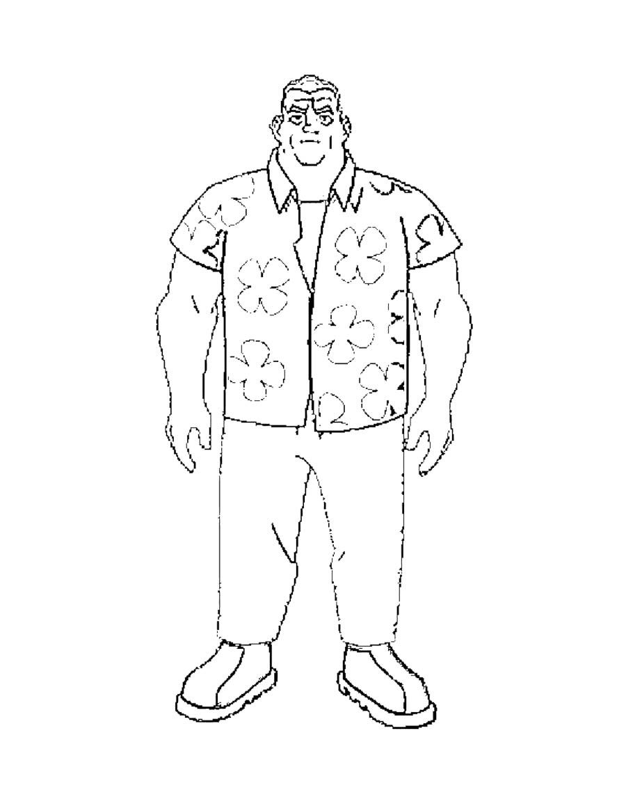 Grandpa Max Coloring Page Coloring Pages Grandpa Max Coloring Pages For Kids