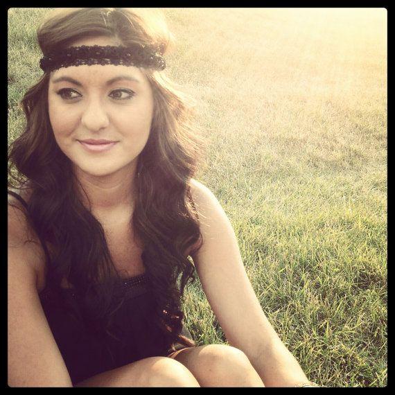 Lace Boho Headband by JesseCVega on Etsy, $12.00