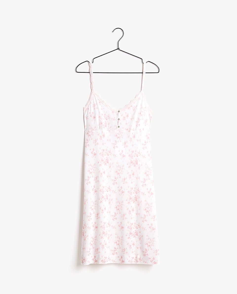 Dames Kleding En Schoenen.Nachthemd Met Bloemenprint In 2019 Homewear Slippers