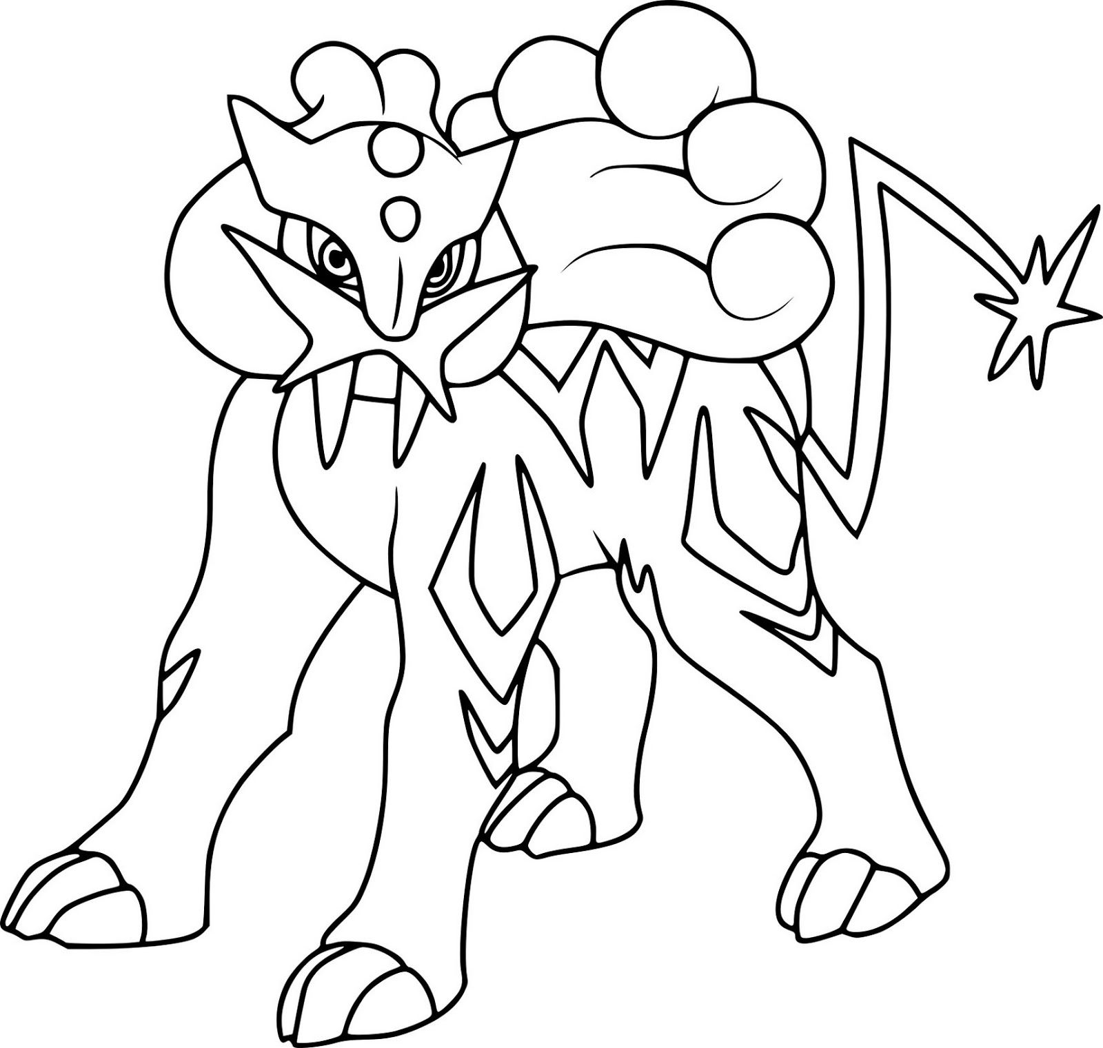 Raikou Pokemon Coloring Pages With Images Pokemon Coloring