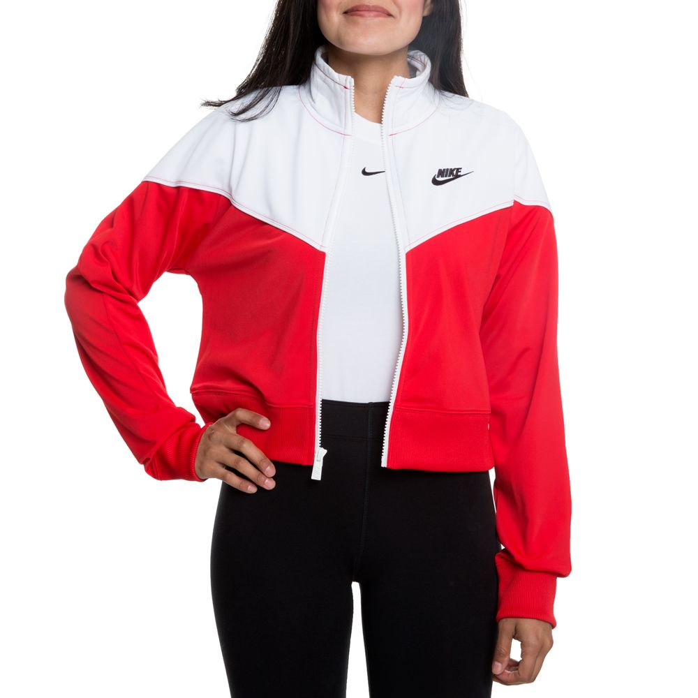 d587a1ea Nike Nsw Crop Heritage Track Jacket University Red/white/white/black ...