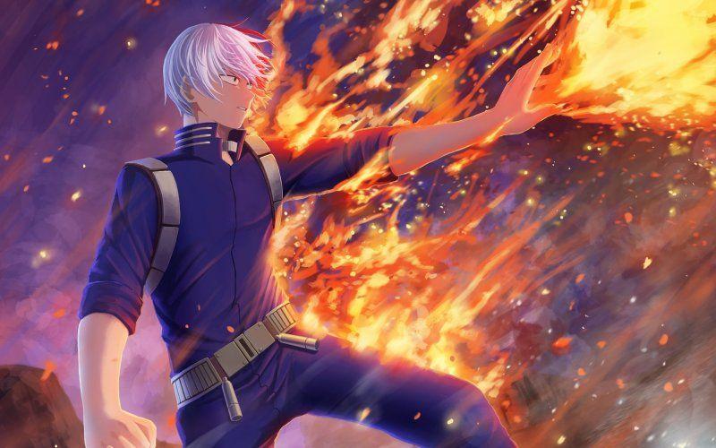 Wallpaper Fire Anime Boy Shoto Todoroki My Hero Academia My Hero Academia Eraserhead My Hero