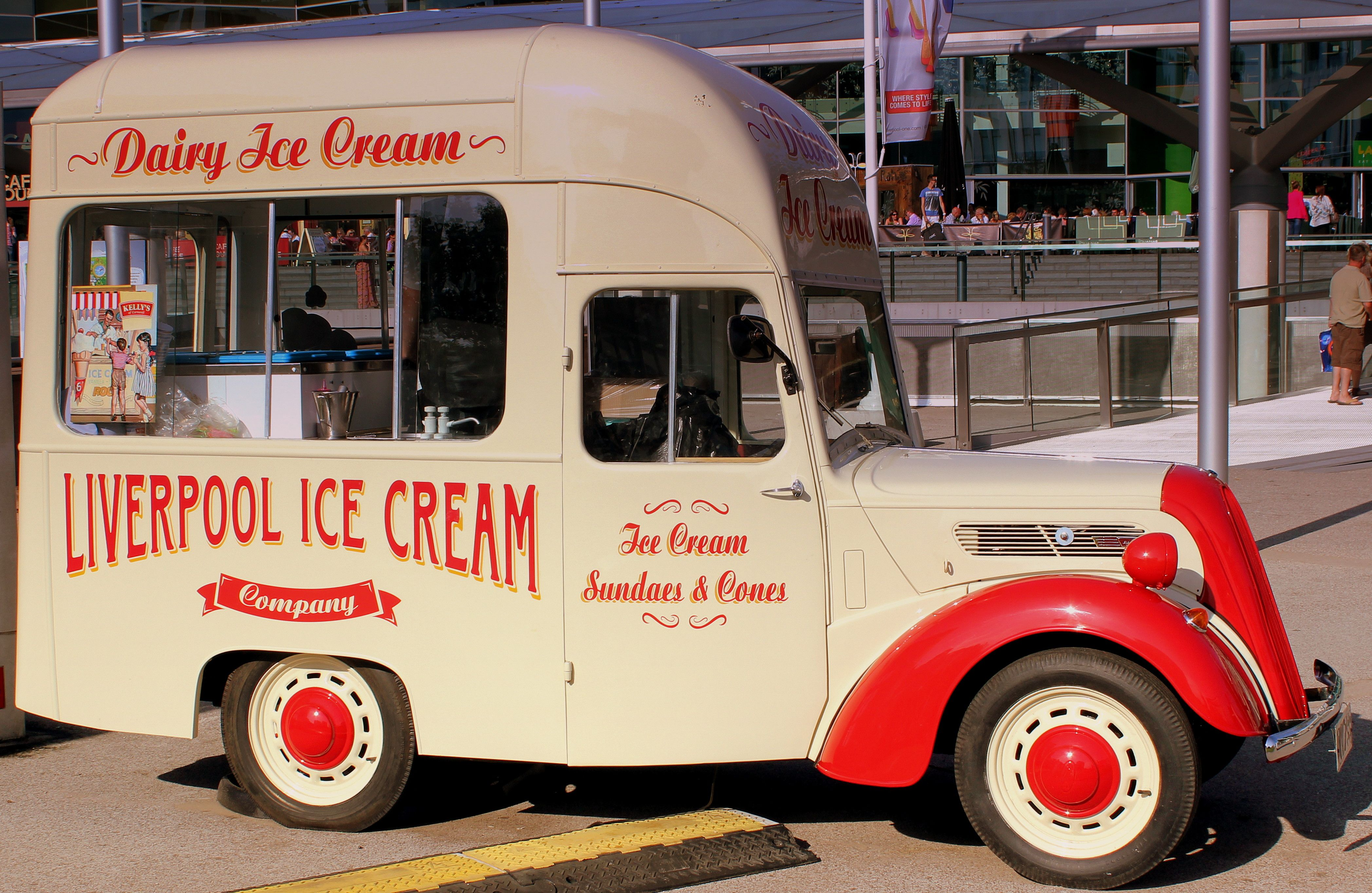 1950s Thames Ford Anglia Icecream Van Ice Cream Van Liverpool Ice Cream Companies