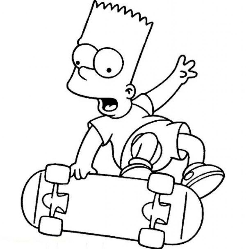 Bart Simpson Coloring Bart Simpson The Simpsons Version Coloring Coloring Pages In 2020 Simpsons Drawings Coloring Books Cartoon Character Tattoos