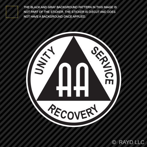 Aa Alcoholics Anonymous Symbol Sticker Decal Self Adhesive Vinyl
