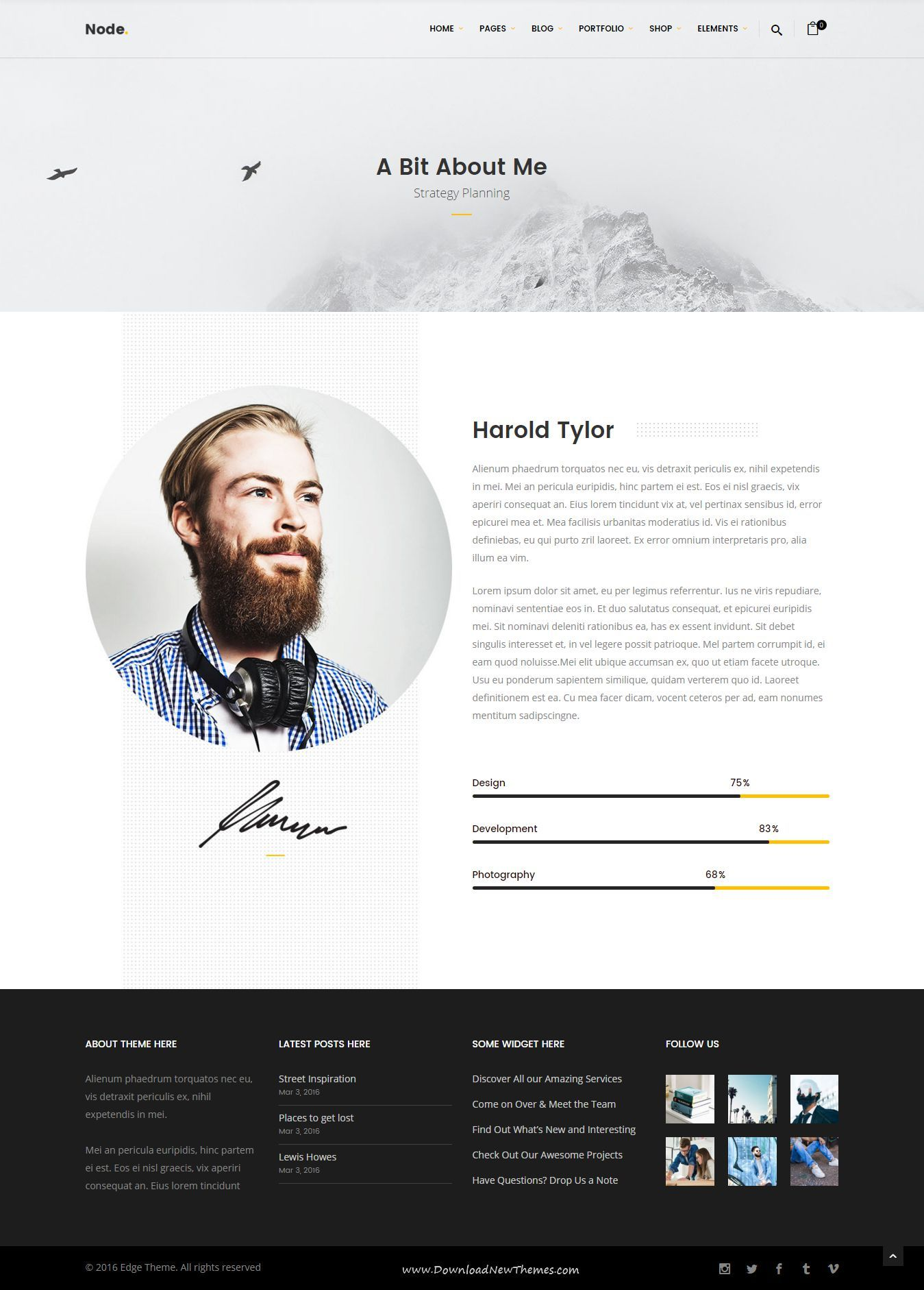 cv template node modern clean multi concept wordpress theme has 18 stunning homepage layouts - Wordpress Resume Template