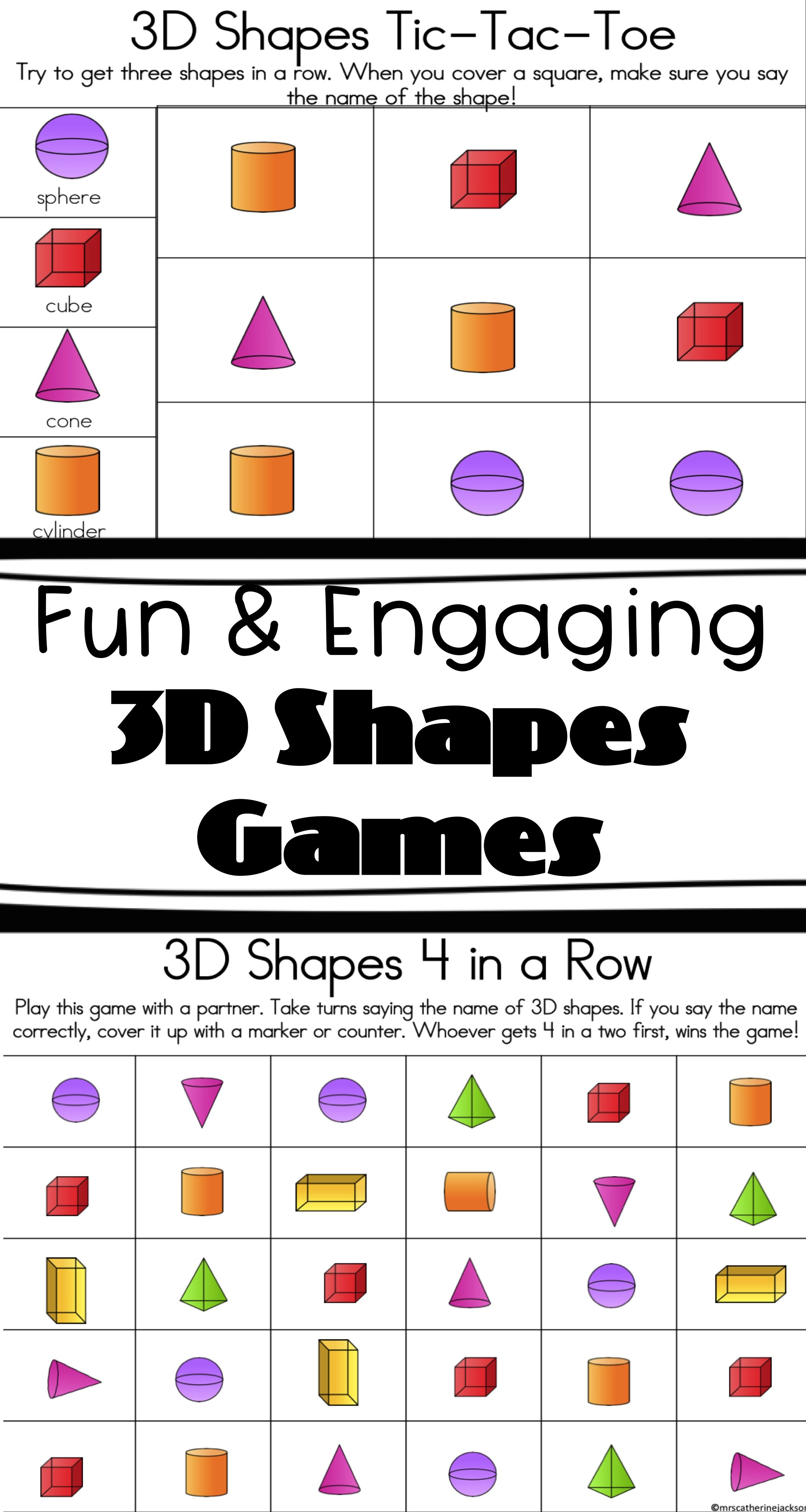 Three Dementional Shapes Worksheet   Printable Worksheets and Activities  for Teachers [ 4499 x 2399 Pixel ]