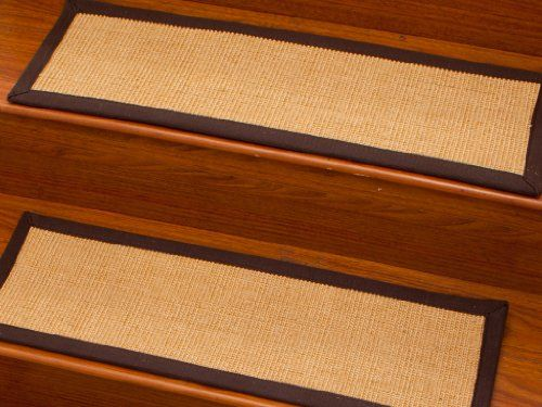 "Area Rugs Best Shop: Casual Elegance 9"" x 29"" Natural Fiber Sisal Carpet Rugs Stair Treads, Cotton Binding (Custom Size and Color Available / Set of 13)"