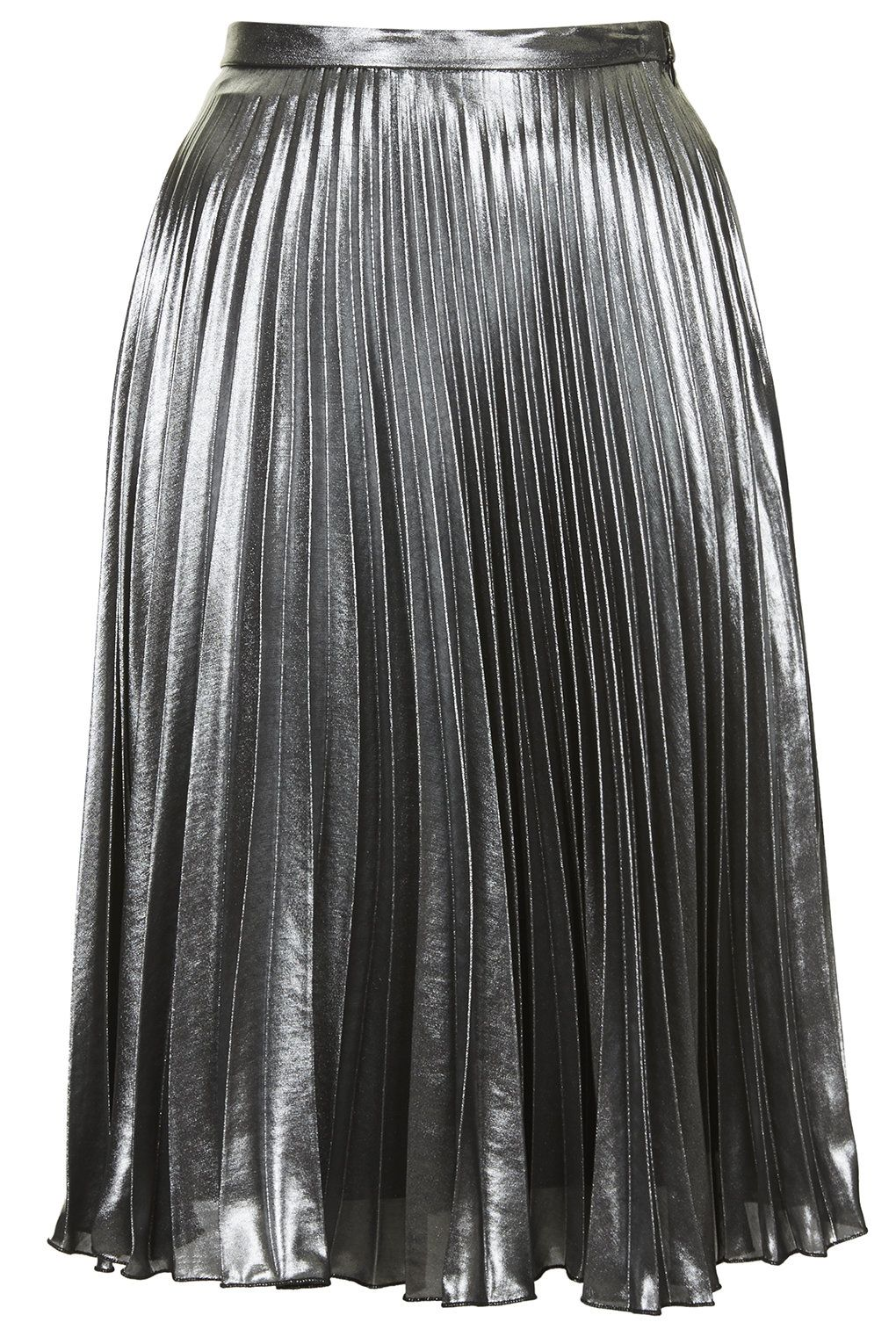 de50e0e79 Topshop Metallic Pleated Midi Skirt