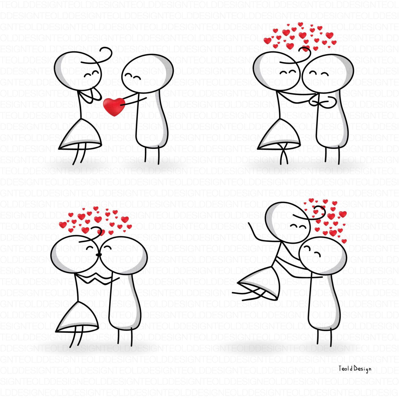 Eps Stick Figure Valentine S Day Valentine People Love