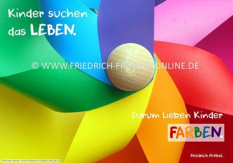 Poster mit pädagogischem Spruch /Zitat zu Kindern von ...
