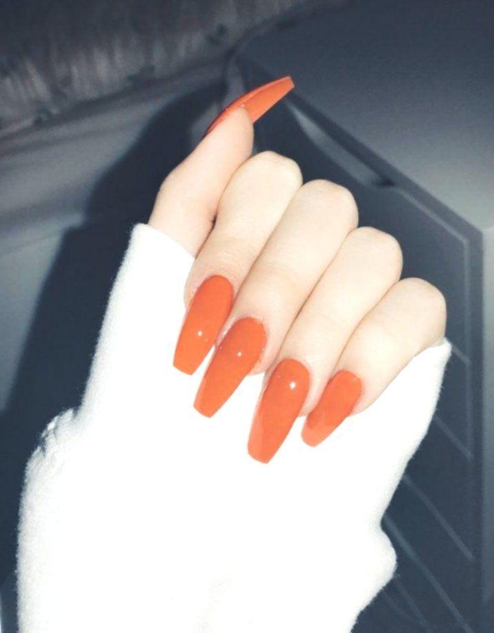 Dark Orange Acrylic Nails Fed Onto Acrylic Nails Ideas Album In Hair And Beauty Categorymany People Do Not Orange Acrylic Nails Best Acrylic Nails Orange Nails