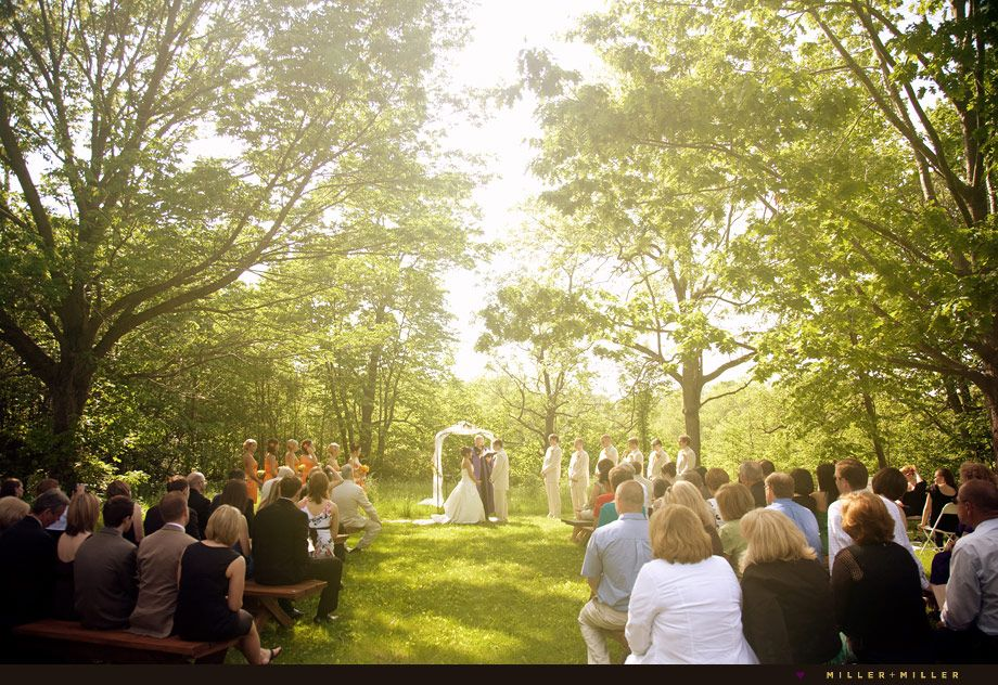 We Absolutely Love This Beautiful Wooded Ceremony Site At The Grove Redfield Estate In Northwest Chicago What A Perfect Autumn Wedding