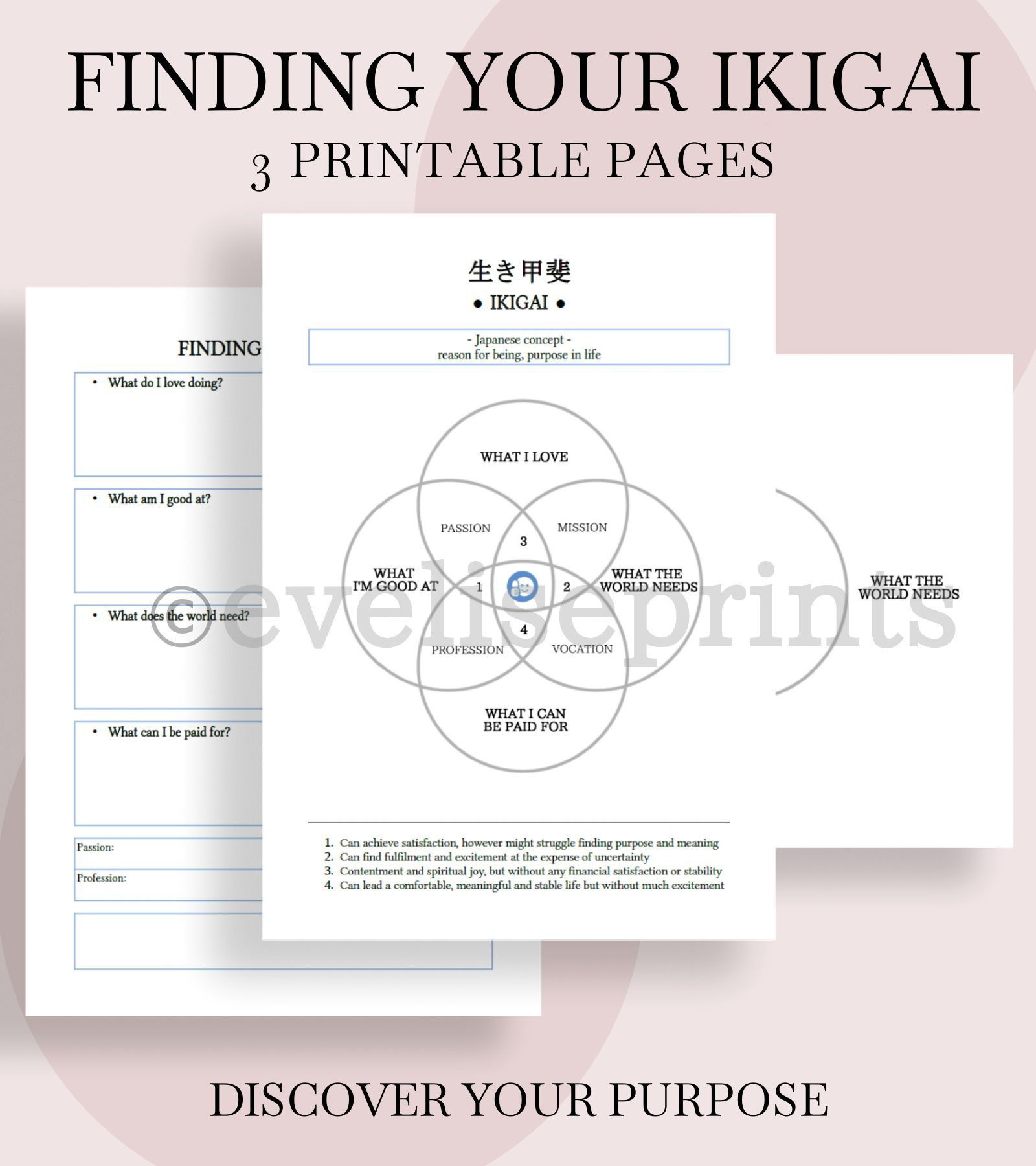 Ikigai Printable Worksheet Learning How To Read