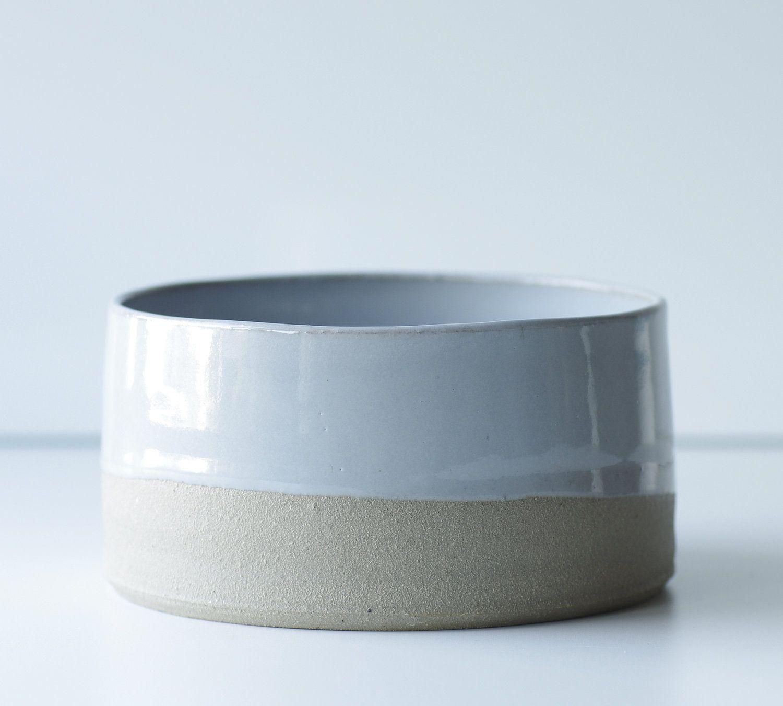 mto modern pottery bowl medium size sand stoneware grey glaze  - mto modern pottery bowl medium size sand stoneware grey glaze minimalistmodern  via