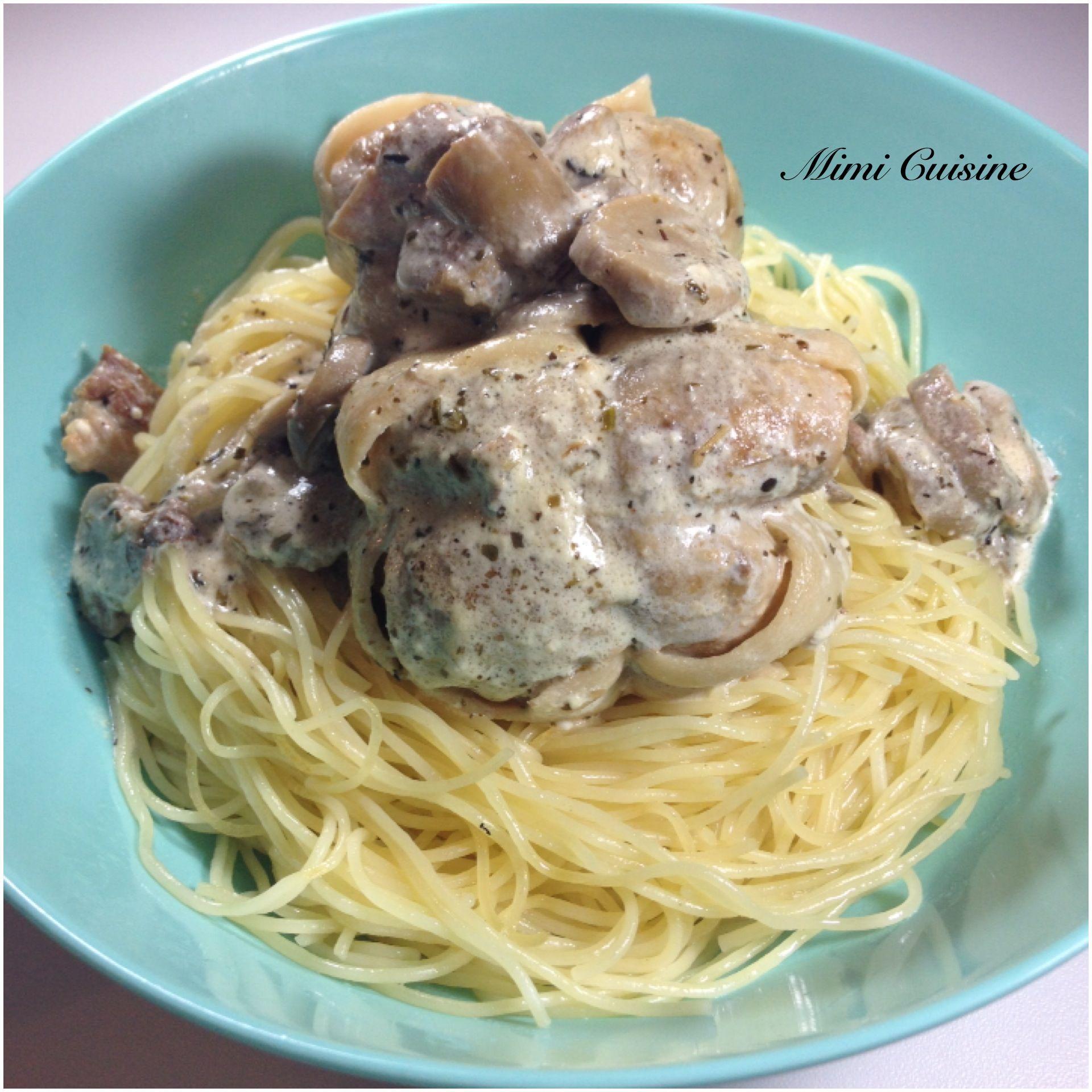 Cuisine Cookeo   Paupiettes Sauce Mascarpone Champignons Recette Cookeo