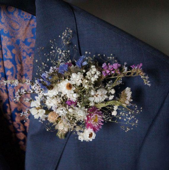 Dried flower Boutonniere For Weddings Rustic wedding Wedding