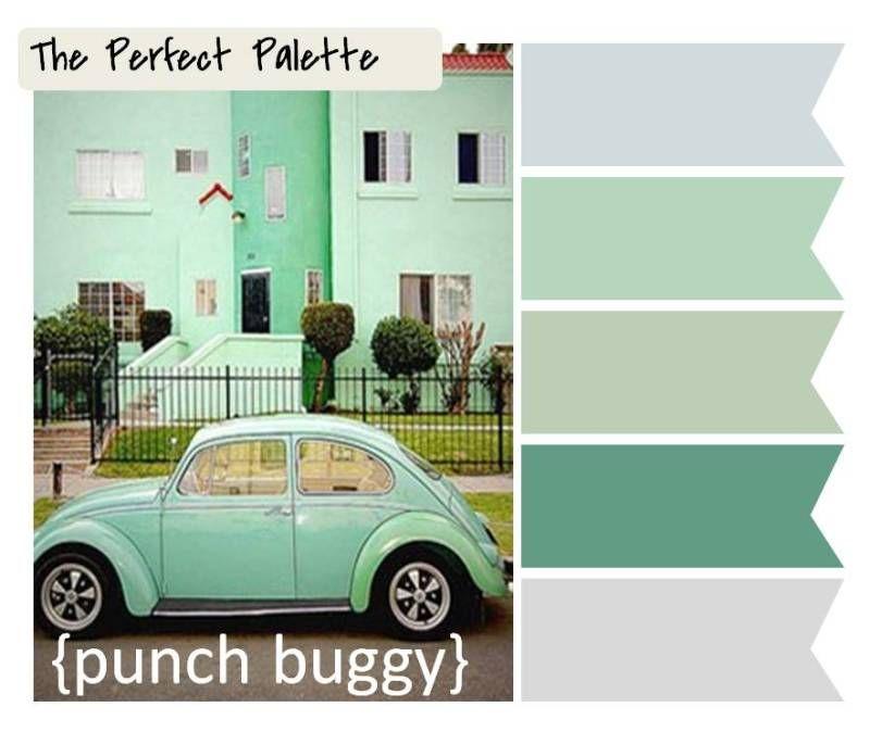 mint palette green colours!