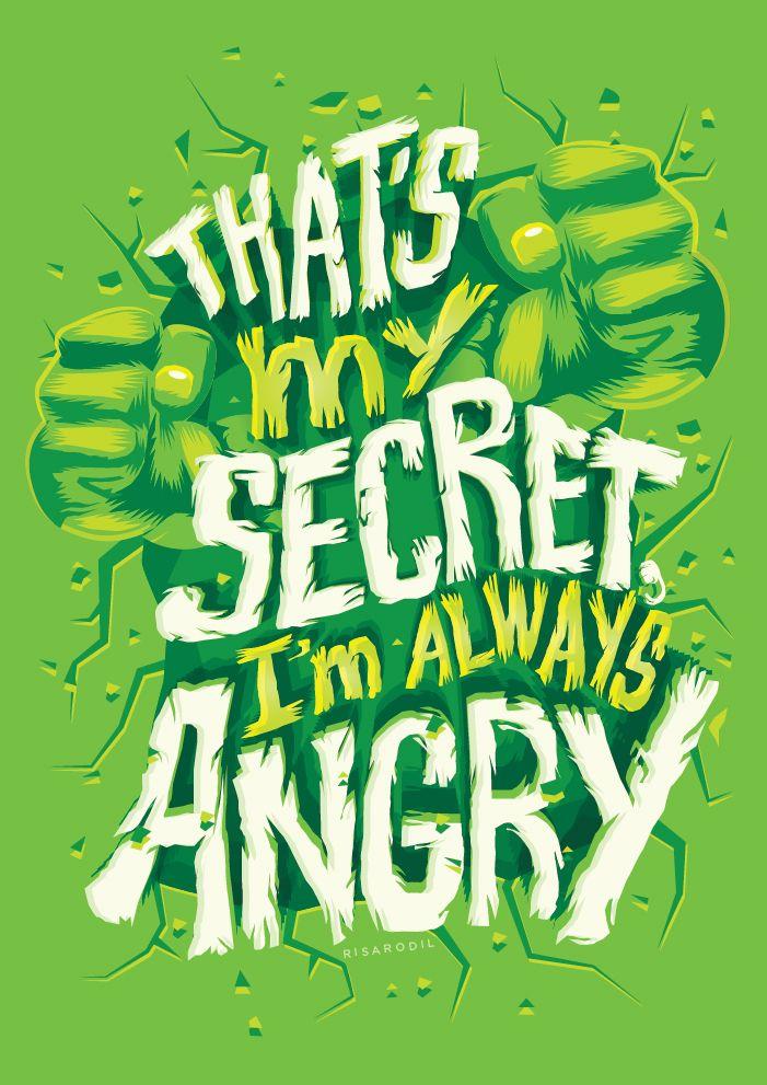 Hulk Quotes | Mcu Character Quote Posters 3 The Incredible Hulk Hulk