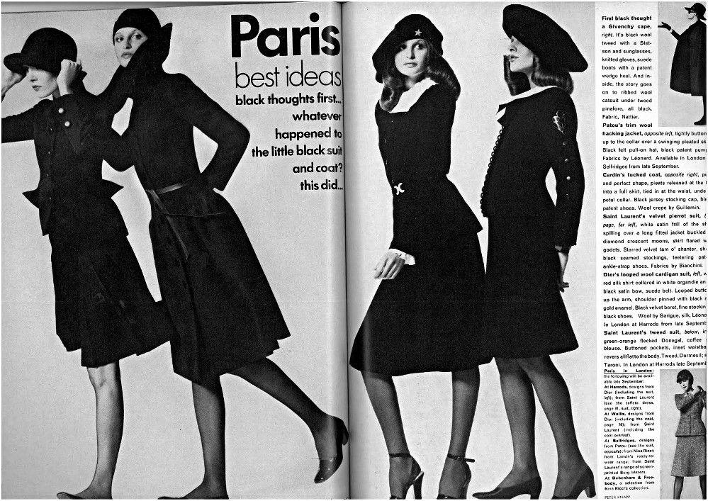1972-73 - Yves Saint Laurent by Peter Knapp for vogue US