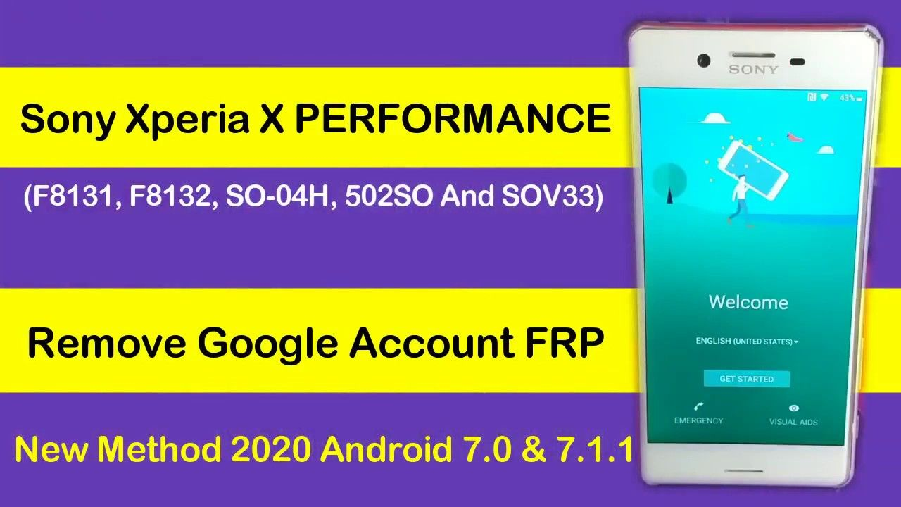 Sony Xperia X Performance So 04h Frp Lock Remove Android 7 0 Without C Sony Xperia How To Remove Sony