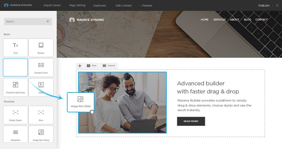 Massive Dynamic is a powerful intuitive WordPress theme for creating ...