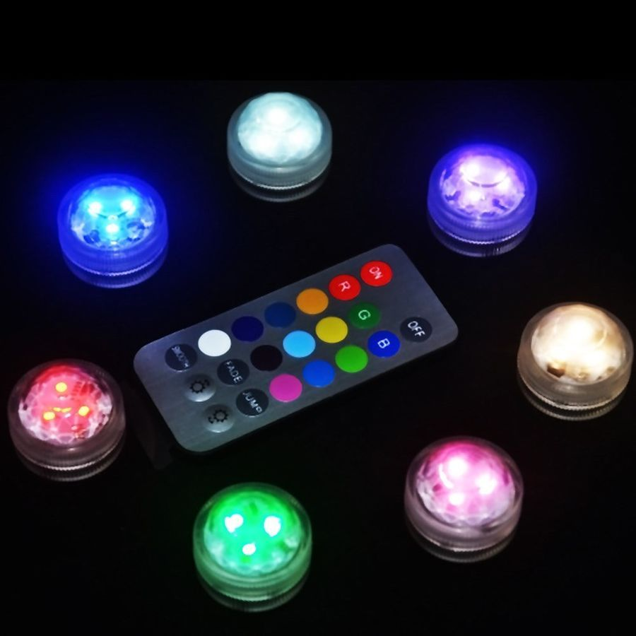 Led Submersible Waterproof Wedding Decorations Fish Decors Vase Tea Light Hot Consumer Electronics Cable Winder