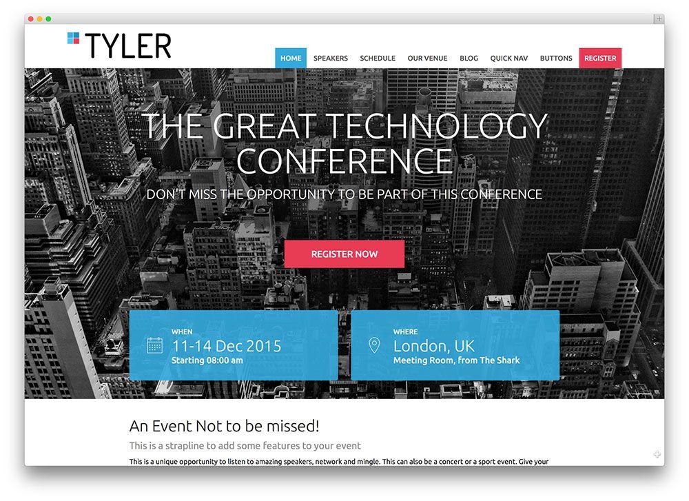 infine - event WordPress theme   Design // Web // Conferences ...