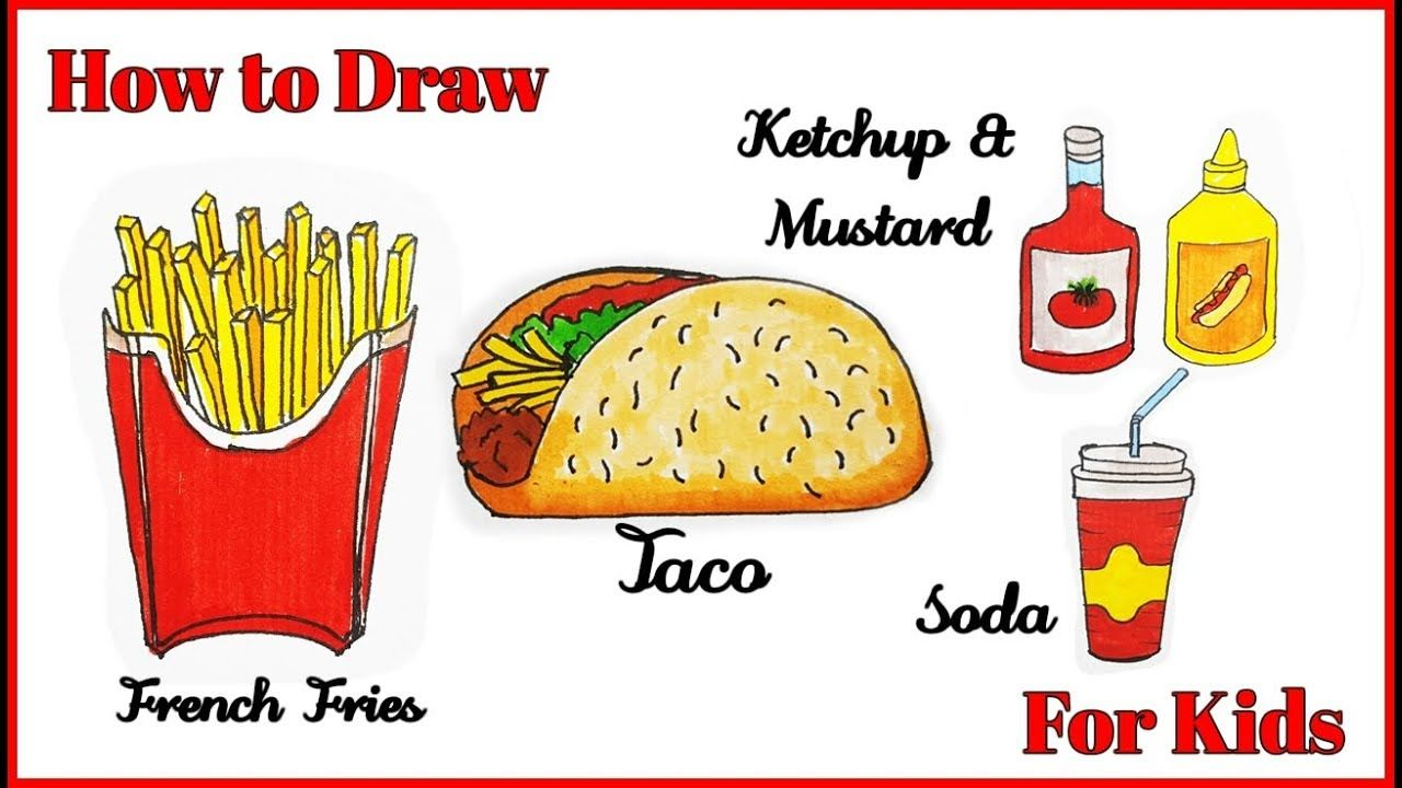 How To Draw French Fries How To Draw Taco How To Draw