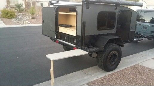 Side Table on a 5x8 Off Road Teardrop Trailer  | Off Road Trailer