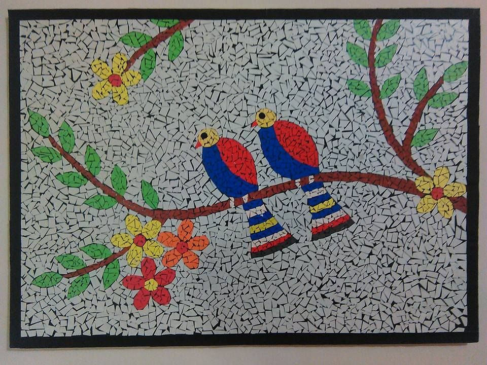 Fevicryl Hobby Ideas Facebook Mosaic Art Made Of Paper Pieces