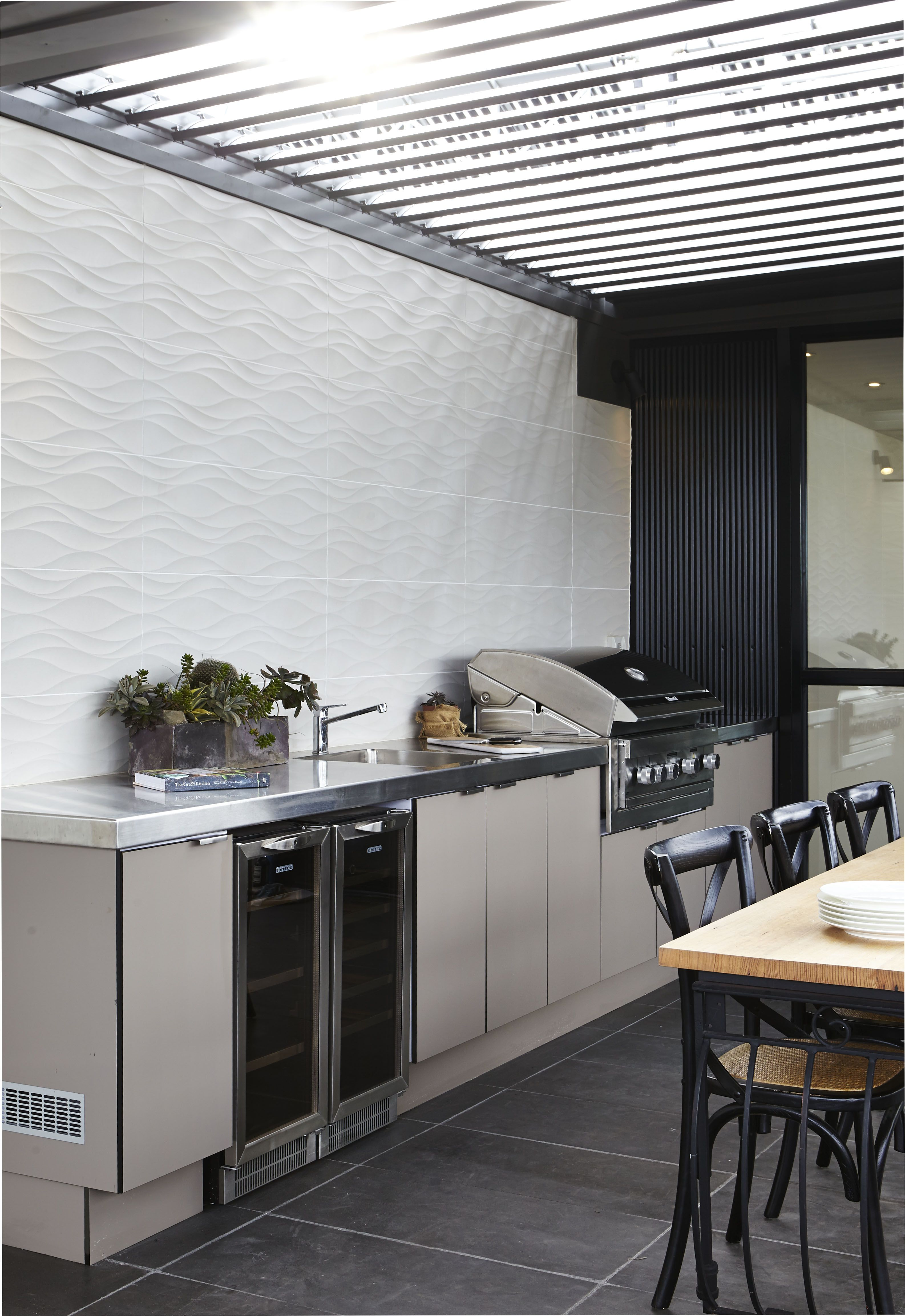 Laminex Alfresco Compact Laminate In Stone Was Used For