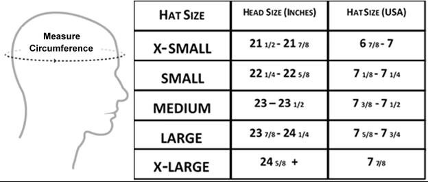 Hat Glove Sizing Hat Size Chart Hat Sizes Hats