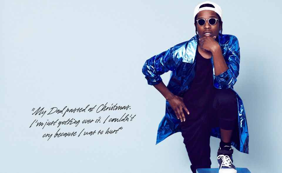 A$AP Rocky in Burberry Prorsum for Mr Porter.