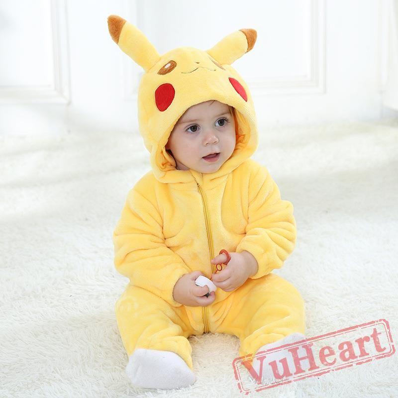 ec9442c5b361 Baby Pikachu Onesie Costume - Kigurumi Onesies in 2019