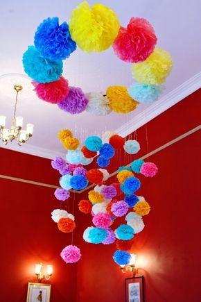 Festas Juninas Como fazer flores em papel seda e pompons para decoração das  festas de São João bb33549d16d