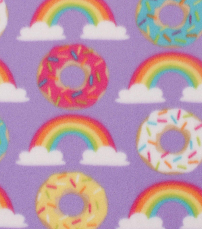 Blizzard Fleece Fabric Donuts u Rainbows hedgie stuff Pinterest