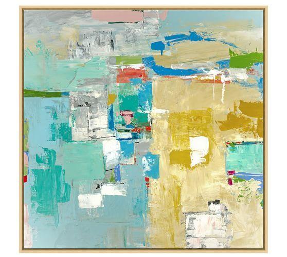 Playa Vista Canvas | Pottery Barn | Art Ideas | Pinterest | Pottery ...