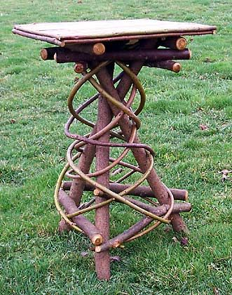 around the bend willow furniture :: tripod table :: Tables & Shelving