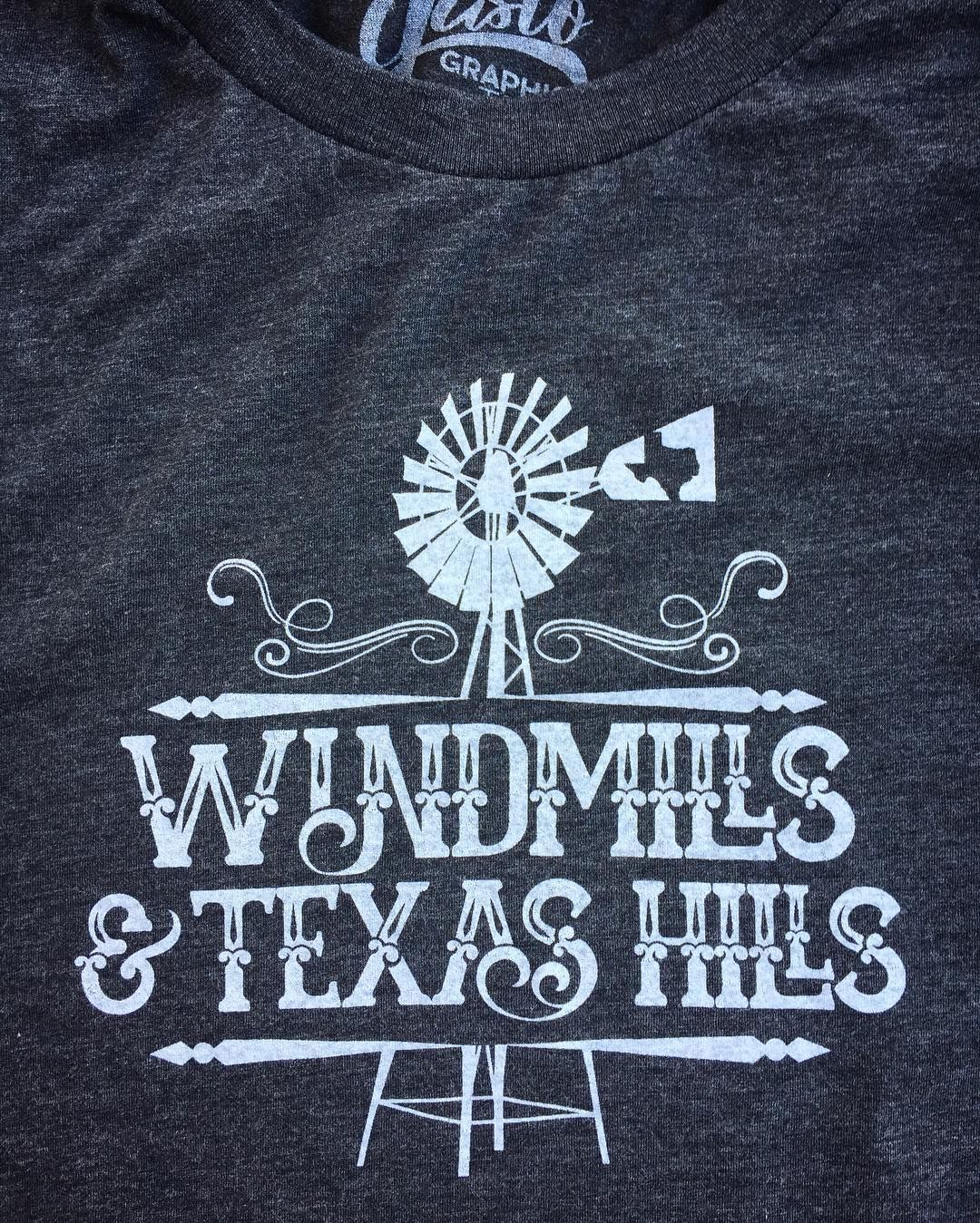 c35c7fae2c9e Windmills and Texas Hills t-shirt from Gusto Graphic Tees! | Tees ...