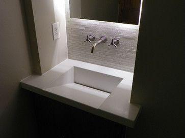 Bathroom Sinks Denver integral concrete sinks - modern - powder room - denver