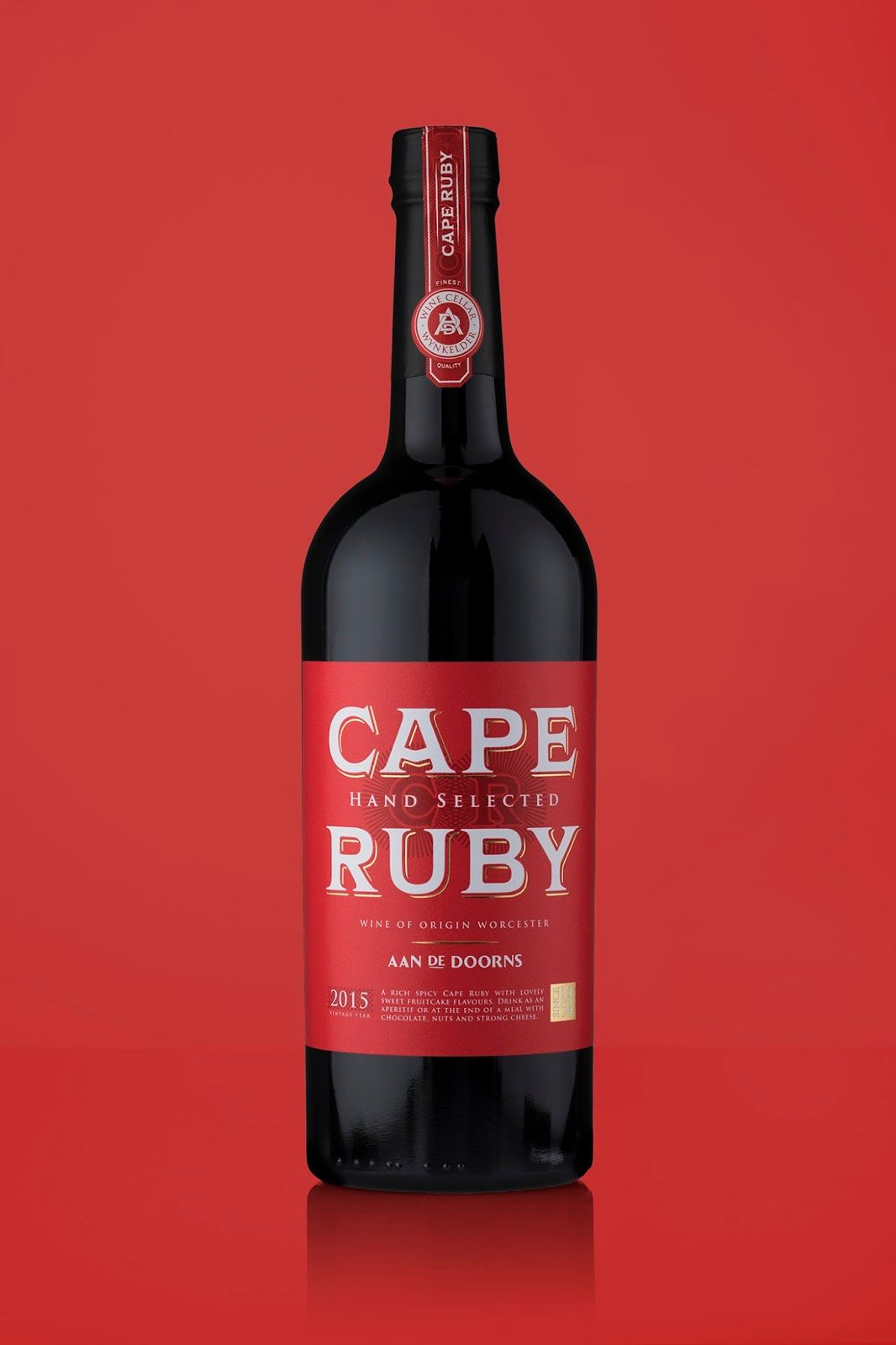 Aan De Doorns Cape Ruby Port Vintage Wine Label Vintage Wine Labels Design Vintage Wine
