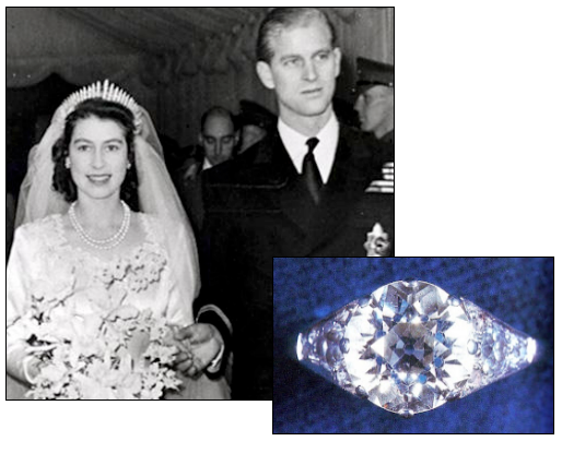 QUEEN ELIZABETH II was presented with this 3 carat diamond