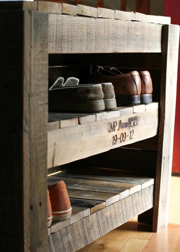 Trucs Déco à Faire Avec Des Palettes De Bois Qui Sauveront Votre  Porte-feuille! Meuble ChaussurePalettes ...