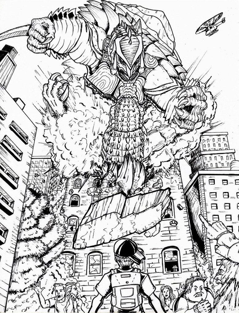 Godzilla Neo Vs Rdc S Gamera By Deadpoolrus On Deviantart Monster Coloring Pages Godzilla Coloring Pages