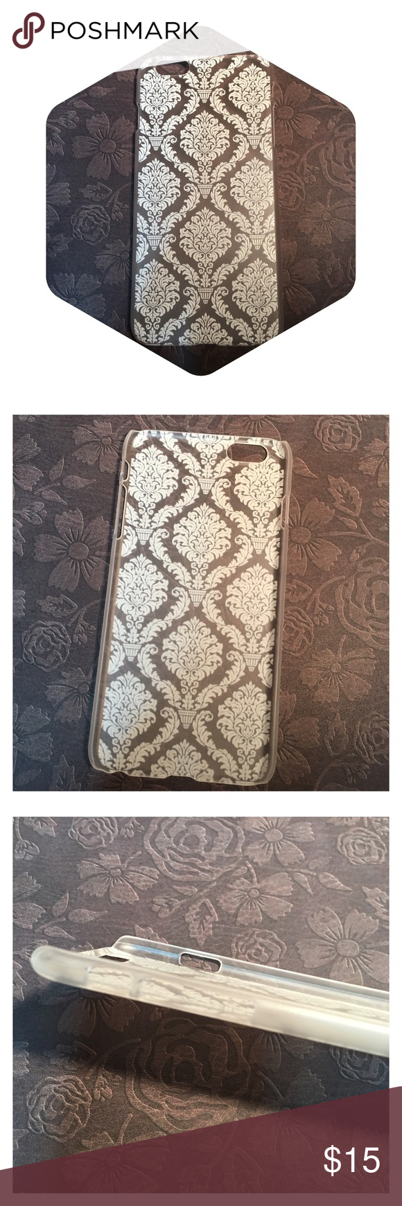 White Damask Hard iPhone 6plus case! Brand new!!! Beautiful White Damask Hard iPhone 6plus case! Brand new!!! Accessories Phone Cases