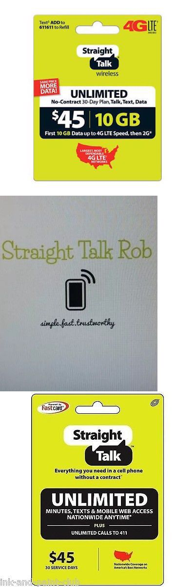 Phone and Data Cards 43308: Straight Talk Rob Refill Card 30 Day $45
